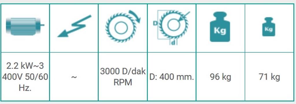 Tronzadora manual KD 400M