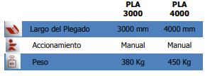 Plegadora PLA-3000 y 4000 de Strong Bull