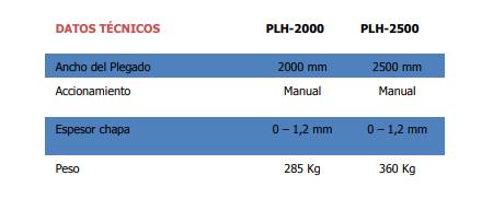 Plegadora plh 2000-2500 de Strong bull en Disomaq