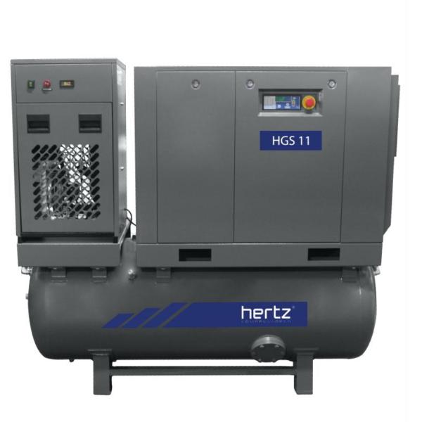 Compresor de tornillo HGS 11 + deposito + secador+ filtro de Hertz en Disomaq