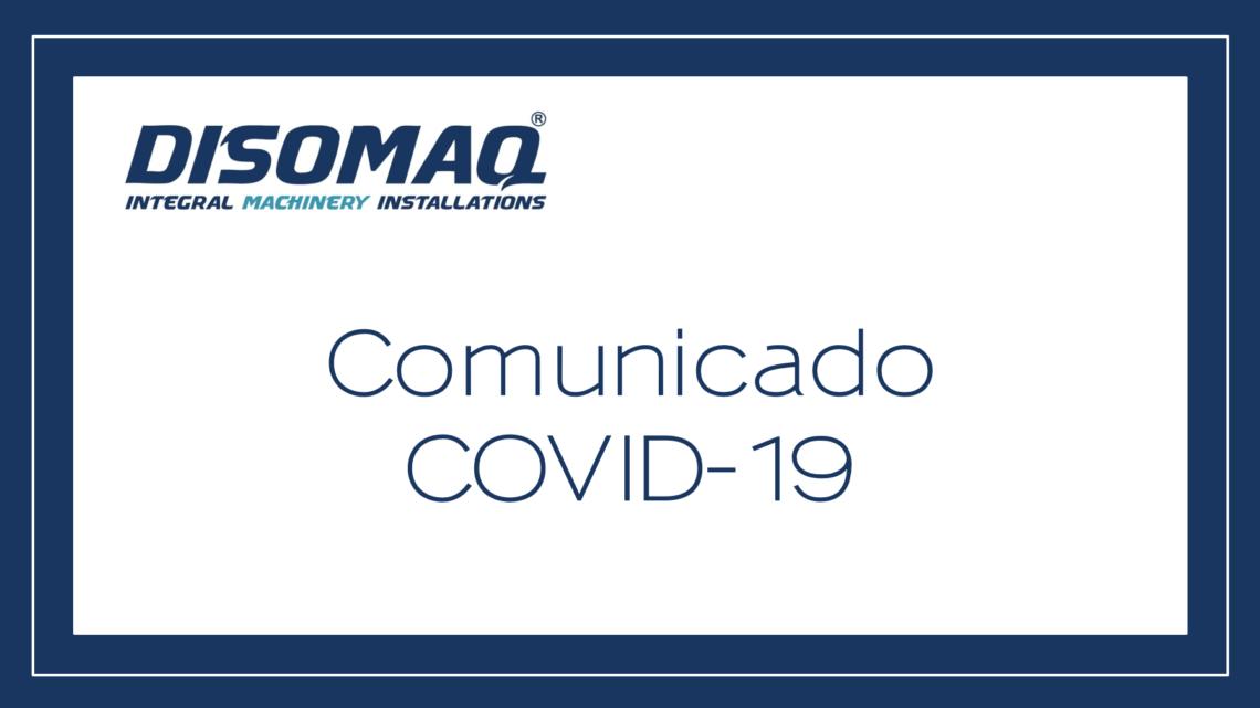 Medidas implementadas por el Grupo DISOMAQ en relación al COVID-19